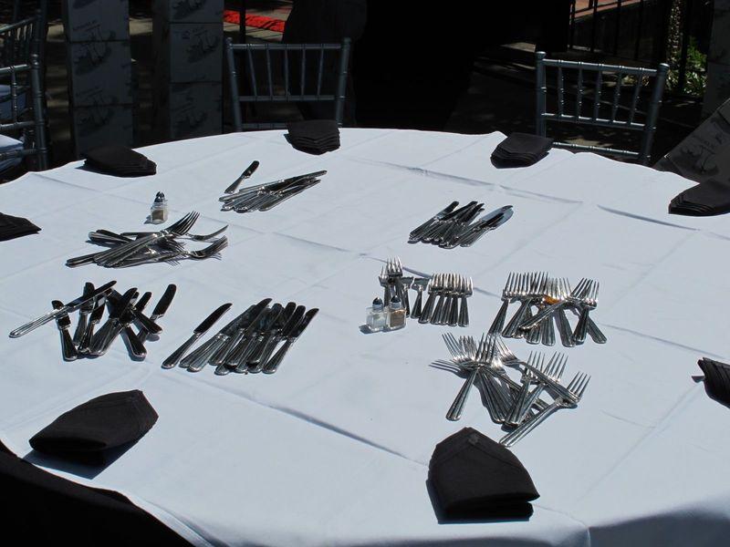 Castle tables forks