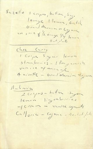 Chez Carey Recipes