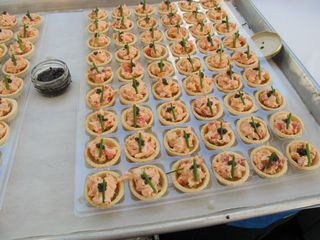 Catering Canapes - Chef's Dinner at Hearst Castle - Cooking