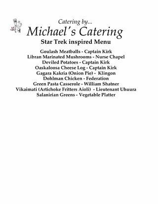 Shatner menu