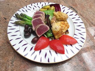 Ahi Tuna and Free Range Chicken Salad