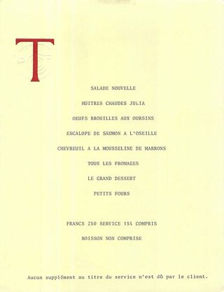 Menu Troisgros 1981 copy