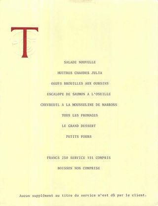 Menu Troisgros 1981 copy