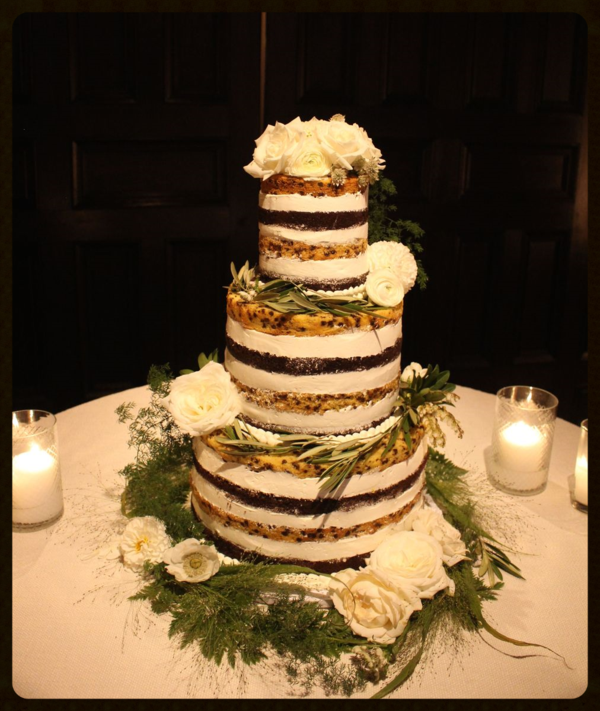 Naked Wedding Cake - Cooking on the American Riviera