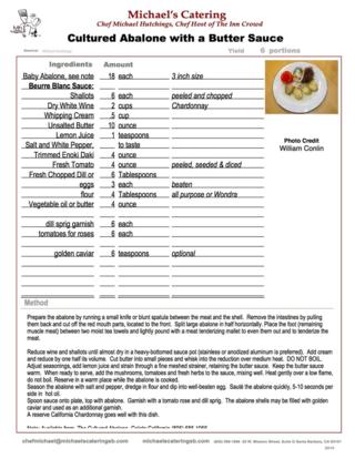 Abalone Recipe