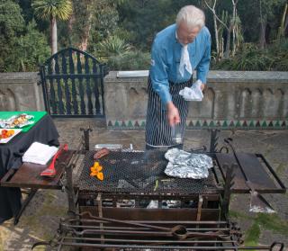 Chef at BBQ