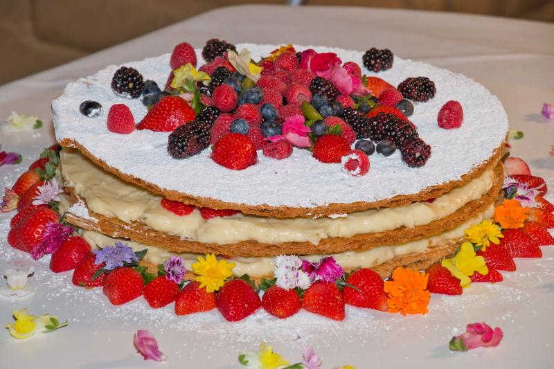 Dessert close up