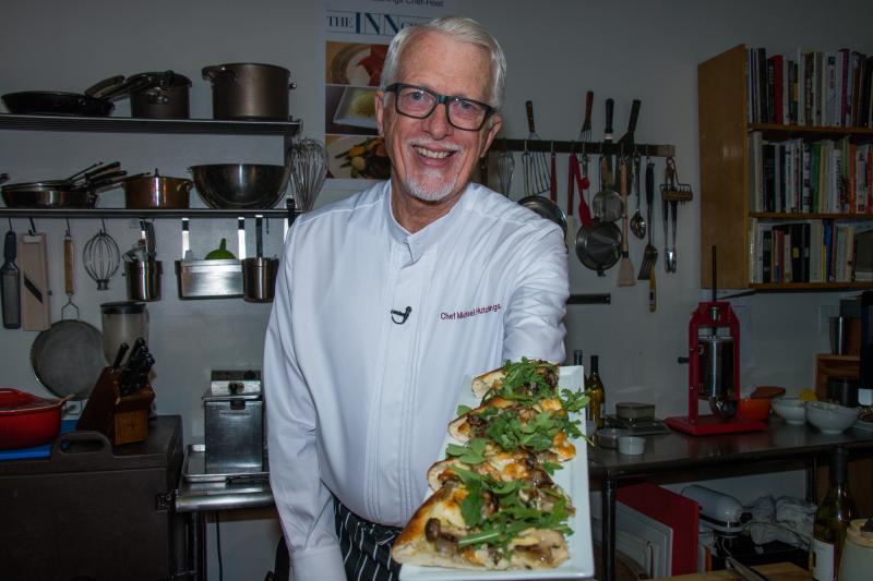 Pizzza and chef