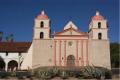 Restored_facade_at_Mission_Santa_Barbara-300x199