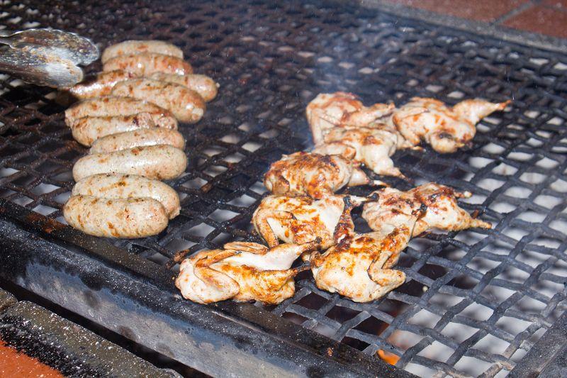 Close Up Quail & Sausages
