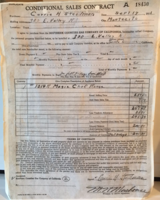 Stove Purchase Order